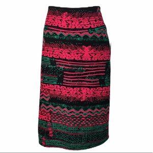 New Lularoe xl Cassie black pink pencil skirt
